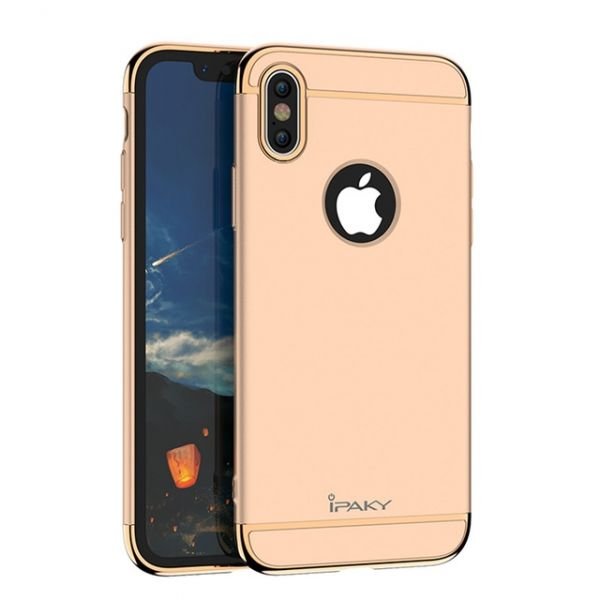 фото Чехол матовый iPaky Gold Full Cover For iPhone X/XS / iPhone 10