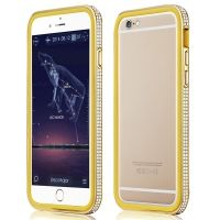 Фирменный бампер X-Fitted Bling Bumper Gold for iPhone 6. iPhone 6 plus