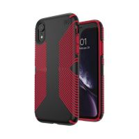 Чехол Speck fop Apple iPhone XR PRESIDIO GRIP - BLACK/DARK POPPY RED, Цена: 954 грн, Фото
