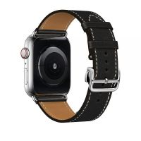 Ремешок для Apple Watch 42/44mm Hermes Single Tour Deployment Buckle Black
