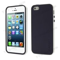 SPIGEN SGP Neo Premium TPU   PC Hybrid Cover Case for iPhone 4.4s.5 - Purple / White