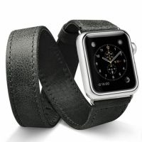 Ремешок кожаный JisonCase Extra Long Band black Apple Watch 38/40/42/44mm