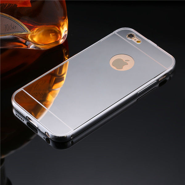 Чехол глянец Mirror Silver case for iPhone 6.6s / iPhone 7.7 plus/ 8.8 plus - Фото 1