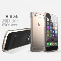 Бампер от Designed by Luphie для iPhone 6. 6 plus ALIEN-X1 Gold