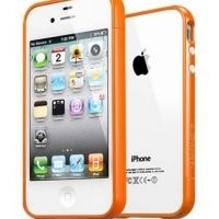 Бампер пластиковый SGP Case Linear EX Color Series Solaris Orange for iPhone 4/4s