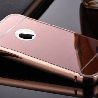 Чехол глянец Mirror Rose Gold case for iPhone 4.4s