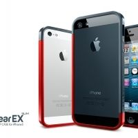 Бампер SGP Linear EX Slim Metal Black-Red Bumper Case for iPhone 5, Цена: 327 грн, Фото