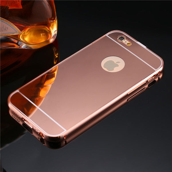 Чехол глянец Mirror Rose Gold case for iPhone 6.6s.& iPhone 7.7 plus /8.8 plus - Фото 1