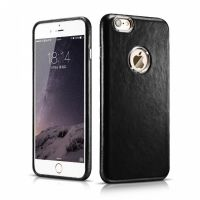 Чехол кожаный для iPhone 6.6s - Hoco Leather back cover Black