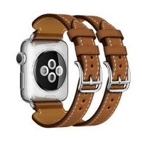 Ремешок для Apple Watch 38/40mm Hermes Double Buckle Cuff Brown