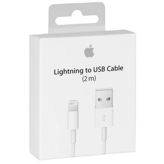 фото USB кабель Apple Lightning Original для iPhone/iPad/iPod  2m (MD819ZM/A)