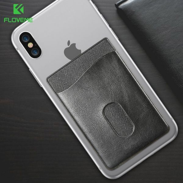 фото Накладка Card Holder Floveme Black для iPhone