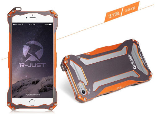 фото Бампер R-JUST Gundam Series Aluminum Metal Frame For iPhone 5.5s.6 Orange