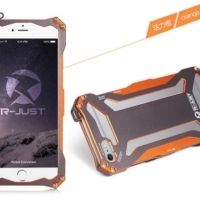 Бампер R-JUST Gundam Series Aluminum Metal Frame For iPhone 5.5s.6 Orange