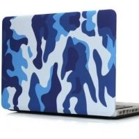 Чехол пласиковый для MacBook Air 13.3  Pro 13/ 15 retina Military Camouflage Blue