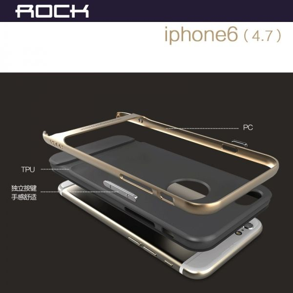 Чехол Rock Neo Hybrid Soft Case  with Bumper for iPhone 6 / iPhone 6 plus (navy blue) - Фото 3