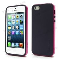 SPIGEN SGP Neo Premium TPU + PC Hybrid Cover Case for iPhone  4.4s.5 - Purple / Rose