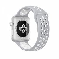Ремешок Silicone with Flat Silver/White Nike for Apple Watch 38/40/42/44mm