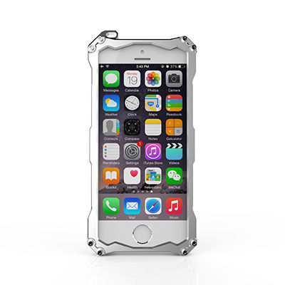 Бампер R-JUST Gundam Series Aluminum For iPhone 5.5s.6.6s Silver - Фото 2