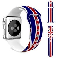 Ремешок Silicone British Flag for Apple Watch 38/40/42/44mm