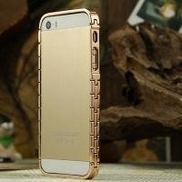 Бампер Aluminum Metal Frame for iPhone 5.5s Gold