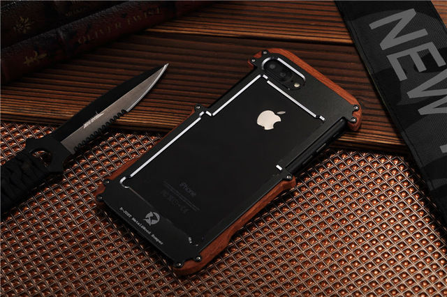 Бампер R-JUST Wood For iPhone 7.7 Plus/ 8.8 plus (три цвета) - Фото 2