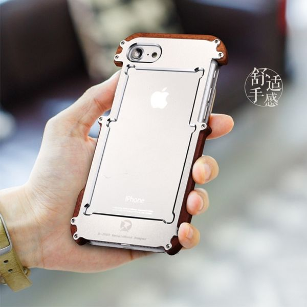 Бампер R-JUST Wood For iPhone 7.7 Plus/ 8.8 plus (три цвета) - Фото 5