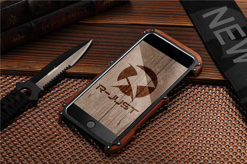 Бампер R-JUST Wood For iPhone 7.7 Plus/ 8.8 plus (три цвета) - Фото 6