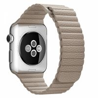 Apple Watch 38/40/42/44mm Stainless Steel Case Stone Leather Loop