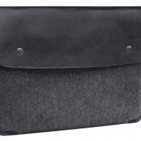 Чехол из войлока Gmakin для MacBook Air 13.3 pro 13/15 (retina) Felt with Black Leather, Цена: 502 грн, Фото
