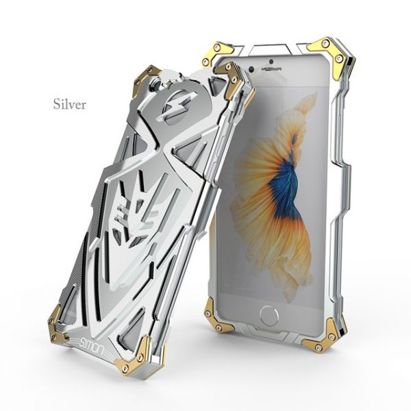 Чехол for iPhone 7. 7 plus/ 8.8 plus Luxury Metal Simon Silver - Фото 1