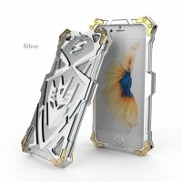 Чехол for iPhone 7. 7 plus Luxury Metal Simon Silver