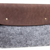 Чехол для MacBook 12 New Felt & Brown Leather Vintage, Цена: 552 грн, Фото