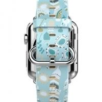 Ремешок HOCO Super Star Leather Strap for Apple Watch 38/40/42/44mm (Light Blue)