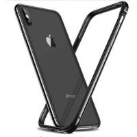 Бампер Silicone-Aluminium для iPhone X/Xs Black, Цена: 452 грн, Фото