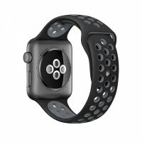 Ремешок Silicone with Black/Cool Gray Nike for Apple Watch 38/42mm
