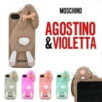 Чехол Moschino Rabbit 3D Silicone for iPhone 4.4s.5.5s
