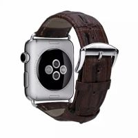 Браслет Leather Croc Skin Effect Apple Watch - 38/42mm - Brown