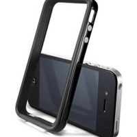 Бампер SGP Case Neo Hybrid 2S Vivid Series Soul Black for iPhone 4/4S