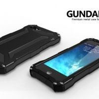 R-JUST Gundam 2 Waterproof Black Metal Case For iPhone 5.5s.5SE