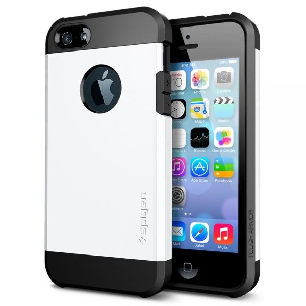 фото SGP SPIGEN Case Tough Armor Smooth White - Защитный чехол для iPhone 4.4s.5.5s