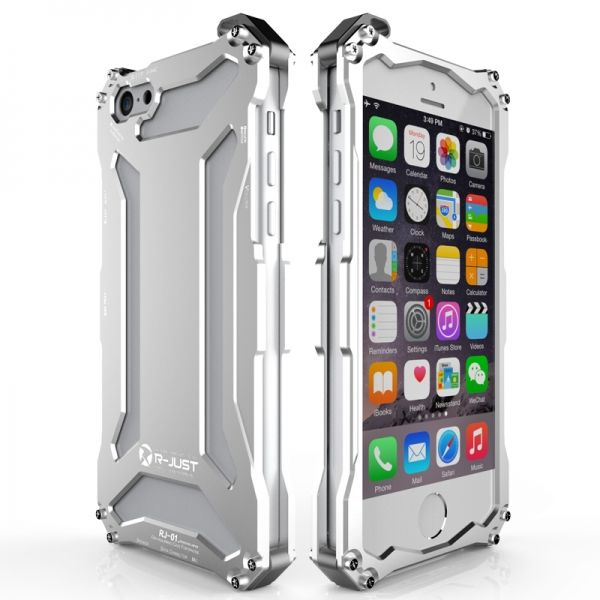 Бампер R-JUST Gundam Series Aluminum For iPhone 5.5s.6.6s Silver - Фото 1