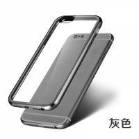 ROCK Ultrathin Aircraft Aluminium Bumper Case with Crystal back for iPhone 6 4.7 - Grey