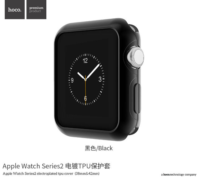 фото Чехол HOCO Silicone для Apple Watch 38/42mm Black
