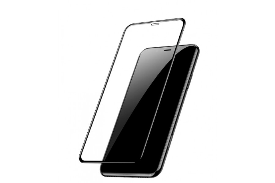фото Защитное стекло 3D Full Baseus Tempered Glass Black для iPhone XR