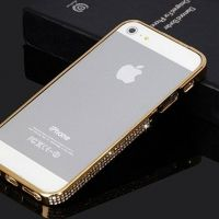 Бампер с камнями Swarovski от iFashion для iPhone 5.5s Золото