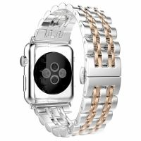 Браслет Stainless Steel Silver-Gold для Apple Watch 38/40/42/44mm