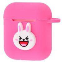 Чехол Colourful Case with Logo для Apple AirPods Funny Rabbit
