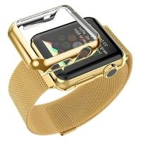 Браслет Apple Watch 38/40/42/44mm with Milanese Gold и накладка HOCO