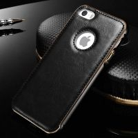 Чехол Cross Leather Black - bumper black for iPhone 5.5s / 6.6s